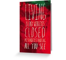 Strawberry Fields Forever - The Beatles - Lyric Poster Greeting Card