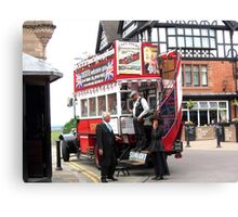 VINTAGE TRANSPORT IN CHESTER Canvas Print