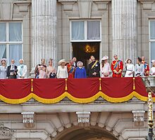 Royal Family on the Balcony after Trooping the Colour by Keith Larby