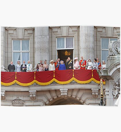 Royal Family on the Balcony after Trooping the Colour Poster