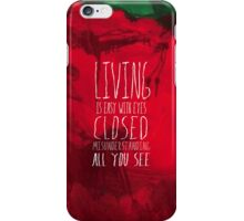 Strawberry Fields Forever - The Beatles - Lyric Poster iPhone Case/Skin