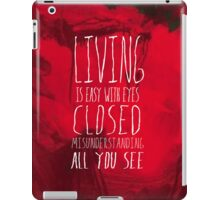 Strawberry Fields Forever - The Beatles - Lyric Poster iPad Case/Skin