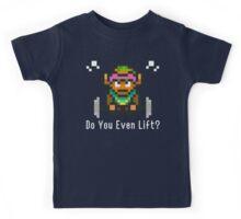 Do You Even Lift? 16-bit Link Edition Kids Tee