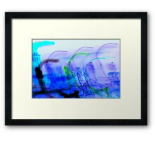 inverted Melting Sun with Spastic Solar Rays in SPACE!!!! Framed Print