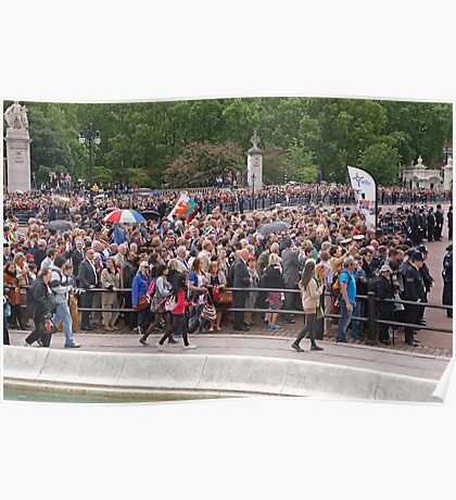Crowds at Trooping The Colour Poster