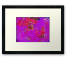Purple Web Red Framed Print