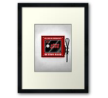 Button Mash Framed Print