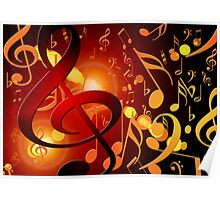 Nice music note pattern. Poster