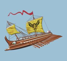 7th to the 4th century BCE Greek Trireme T-shirt by Dennis Melling