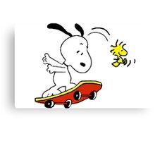 Snoopy Skating Canvas Print