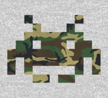 Camo Space Invader by e4c5