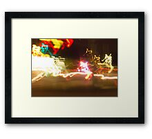 Chaos lights photography Framed Print
