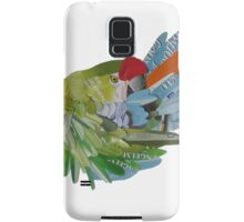 Macaw arranging his feathers Samsung Galaxy Case/Skin