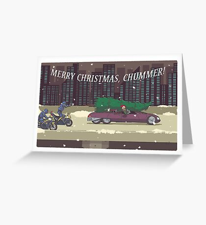 Merry Christmas, Chummer: Midnight Sleigh Ride Greeting Card