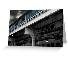 New York Subway Overpass Greeting Card