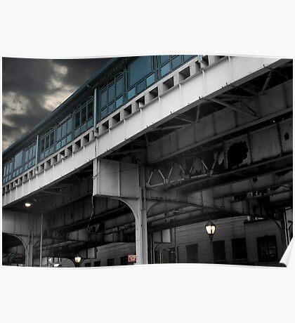 New York Subway Overpass Poster