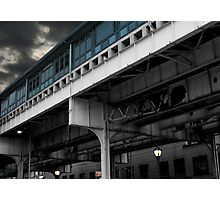 New York Subway Overpass Photographic Print