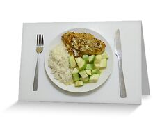 Chicken With Tumeric, Ginger & Crème Fraîche Greeting Card