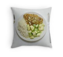 Chicken With Tumeric, Ginger & Crème Fraîche Throw Pillow