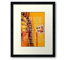 Yellow Submarine - The Beatles - Lyric Poster Framed Print