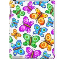 Butterflies Colorful Pop Art Pattern iPad Case/Skin