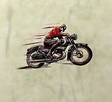 VINTAGE MOTORCYCLE ART by BIG-DAVE