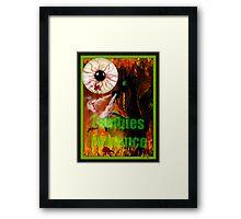 zombies romance Framed Print