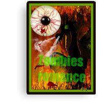 zombies romance Canvas Print