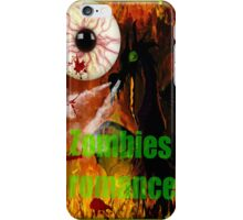 zombies romance iPhone Case/Skin