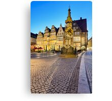 The Statue of Roland in Bremen, Germany Canvas Print