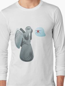 Boo! and Weeping Angel... Long Sleeve T-Shirt