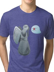 Boo! and Weeping Angel... Tri-blend T-Shirt