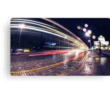 Night Traffic Lights Canvas Print