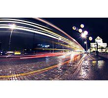 Night Traffic Lights Photographic Print