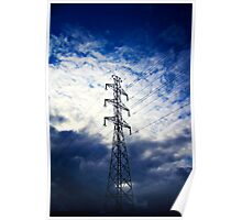 Dramatic Electric Pole Poster