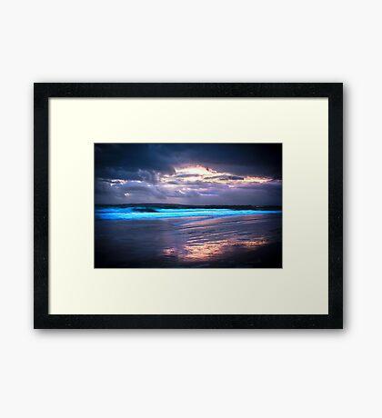Last Light at the Beach Framed Print