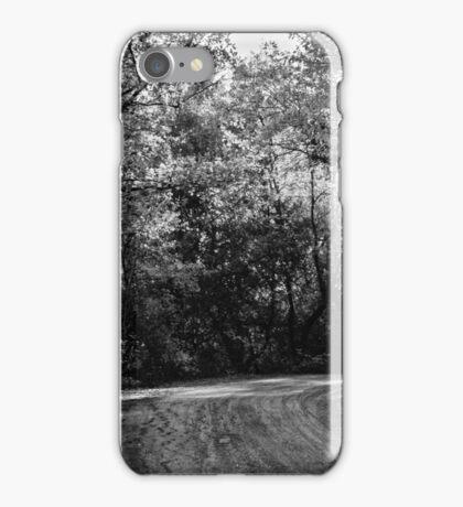 An autumn landscape - BW iPhone Case/Skin