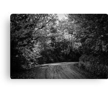An autumn landscape - BW Canvas Print