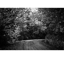 An autumn landscape - BW Photographic Print