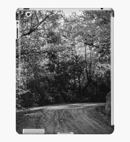 An autumn landscape - BW iPad Case/Skin
