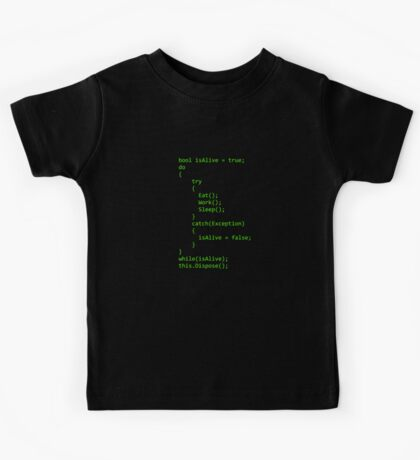 Life - Written in C# Kids Tee