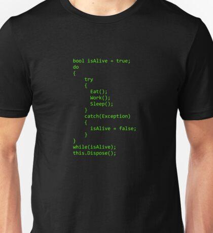 Life - Written in C# Unisex T-Shirt