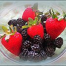 Blackberries And Strawberries by kkphoto1
