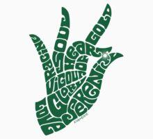 Heart Hand in Emerald Green, Small Version T-Shirt