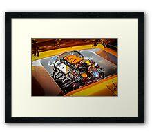 Orange Motor Framed Print