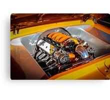 Orange Motor Canvas Print