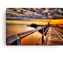 Kingfisher Jetty... Canvas Print