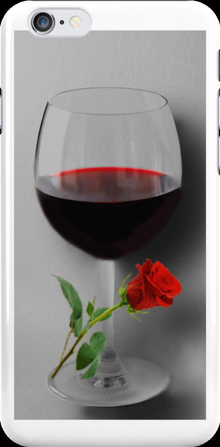 (✿◠‿◠) WINE WITH ROSE IPHONE CASE (✿◠‿◠) by ✿✿ Bonita ✿✿ ђєℓℓσ