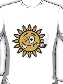 Funny Joint Smoking Sun T-Shirt