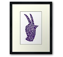 Life Force Hand in Bright Grape Framed Print